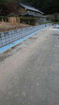 道路改良工事 ブロック積み